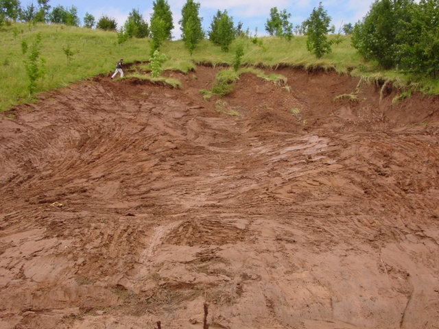 landslide adjacent to the A44, Worcestershire, following heavy rains on already saturated ground
