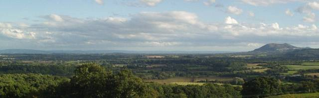 The Severn Vale as seen from Martley (the Malvern Hills are to the right of the photograph)